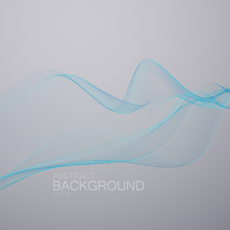 digital wave: 3D abstract digital wave. Futuristic vector illustration. Technology concept. Abstract background