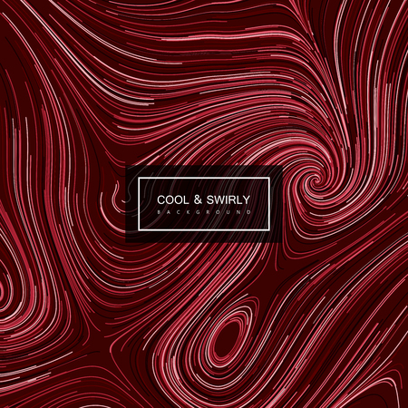 illustration and cool: Abstract artistic curl background with swirled stripes. Vector vintage illustration of swirled and curled stripes background. Marble or acrylic texture imitation. Cool and Swirly background