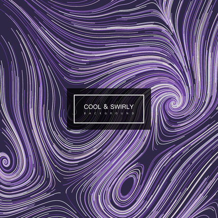 illustration cool: Abstract artistic curl background with swirled stripes. Vector vintage illustration of swirled and curled stripes background. Marble or acrylic texture imitation. Cool and Swirly background