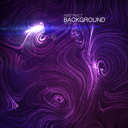 hallucinations: Abstract curl background with swirled shiny stripes and lens flare light effect. Vector illustration of swirled stripes background. Abstract illuminated background Illustration