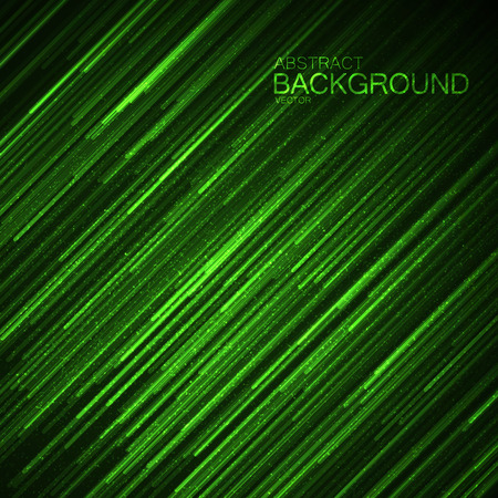 abstract green: Abstract green background with glowing random lines and sparkles. Vector illustration. Cover, poster, flyer, banner and placard design template Illustration