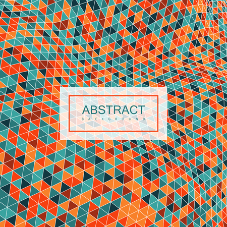applicable: Abstract polygonal distorted background with colorful triangulation. Vector illustration. Applicable for cover, placard, brochure, flyer, banner design