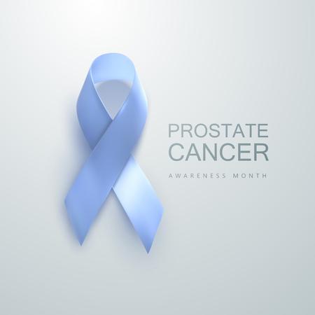 Prostate Cancer Awareness Blue Ribbon. World Prostate Cancer Day concept. Vector Illustration. Men healthcare concept