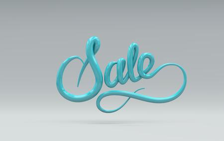 advertising design: Sale Sign. Vector 3D lettering. Vector illustration of 3D Sale Label. Advertising banner or poster design template. Sale event concept