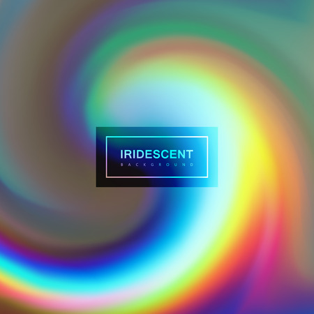 applicable: Fluid iridescent multicolored background. Vector illustration of iridescent rainbow fluids. Holographic neon whirlpool effect. Applicable for flyer, banner, poster, brochure, cover. Spectrum colors