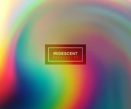 banner effect: Fluid iridescent multicolored background. Vector illustration of iridescent rainbow fluids. Holographic neon effect. Applicable for flyer, banner, poster, brochure, cover. Spectrum colors