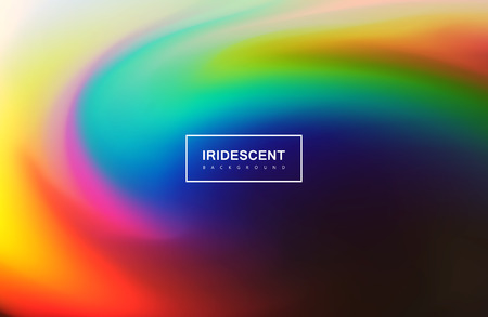 nacre: Fluid iridescent multicolored background. Vector illustration of iridescent rainbow fluids. Holographic neon whirlpool effect. Applicable for flyer, banner, poster, brochure, cover. Spectrum colors