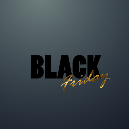 open type font: Black Friday sale banner design template. Vector illustration of Black Friday sign.
