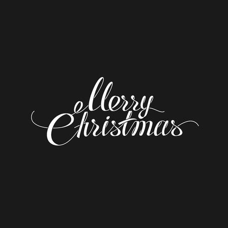 the christian religion: Merry Christmas Lettering Design. Holiday Illustration Of Lettering Merry Christmas Label. Christian Religion Event
