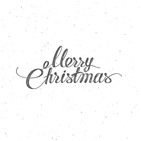 the christian religion: Merry Christmas. Lettering Vintage Design. Holiday Illustration Of Merry Christmas Label. Christian Religion Event