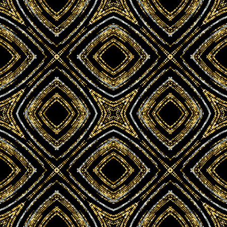 applicable: Luxury festive seamless pattern with shiny golden glitters. illustration of glittering seamless background. Applicable for print, fabric or package design