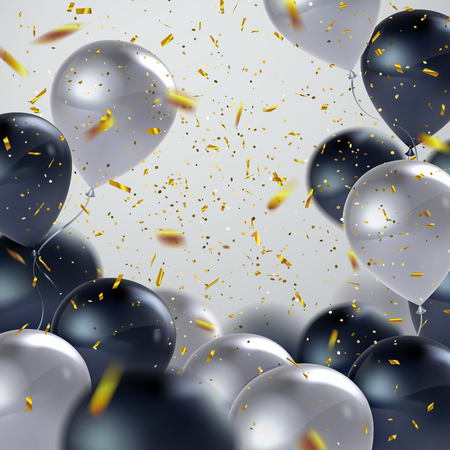 Realistische glänzende Ballons Standard-Bild - 71079454