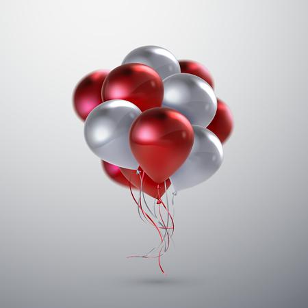 wedding feast: Realistic glossy balloons