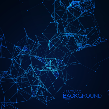 Plexus Lines And Particles Background.