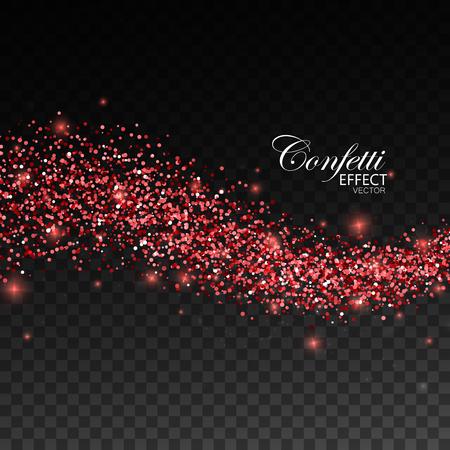 ruby: Glittering red stream of sparkles. Illustration