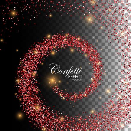 decoration design: Decoration confetti element for design. Illustration