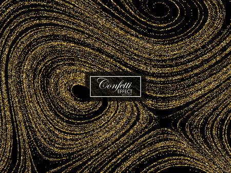 Luxury festive background with shiny golden glitters. Illustration