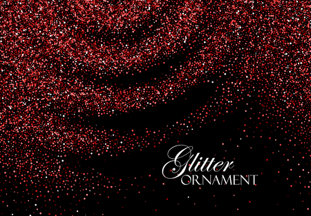 Red Confetti Glitters.