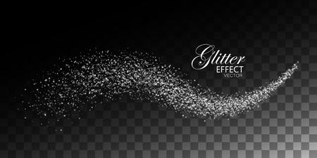 Glittering shiny stream of sparkles. Illustration