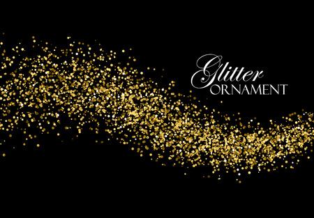 glitz: Glittering golden stream of sparkles.