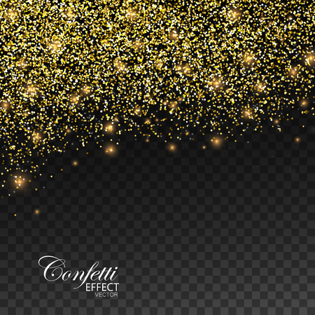 Gold glittering star dust Vektorové ilustrace
