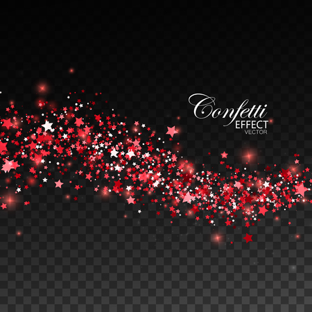 Glittering red stream of sparkles. Иллюстрация