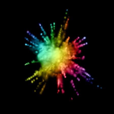 turbulence: Paint powder smoky explosion.