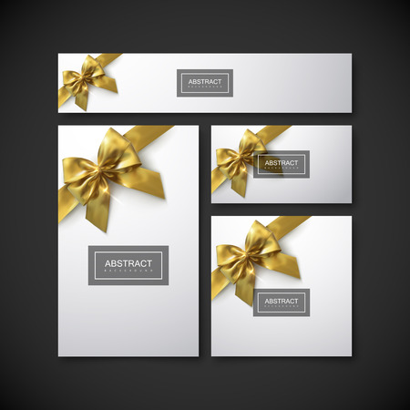 Set of design elements for holiday package design.