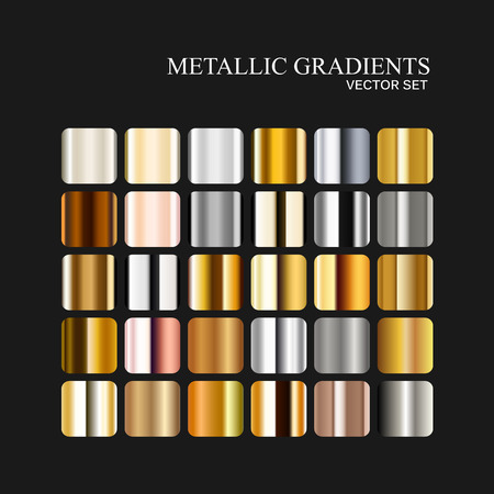 Metallic silver, golden and bronze gradient collection.