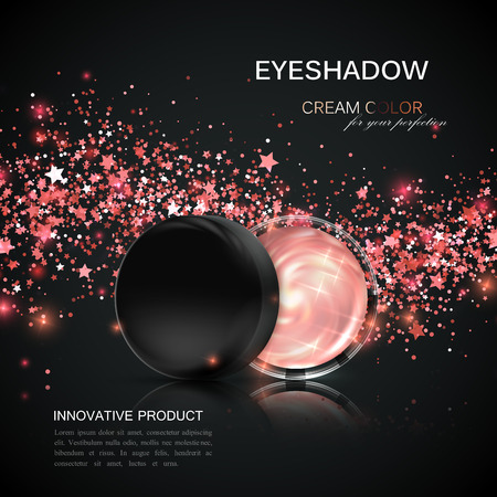 anuncios de productos cosméticos. Ilustración de vector