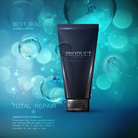 Kosmetik Produkt-Anzeigen Poster Vorlage. Standard-Bild - 74971874