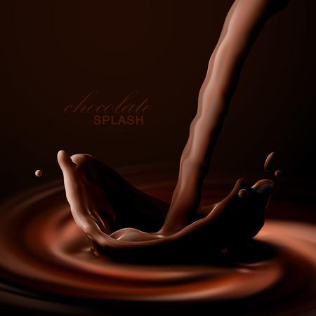 Chocolate crown splash