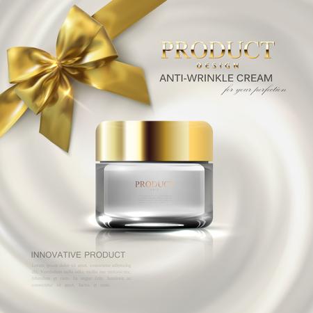 Cosmetics package mockup design. Illustration