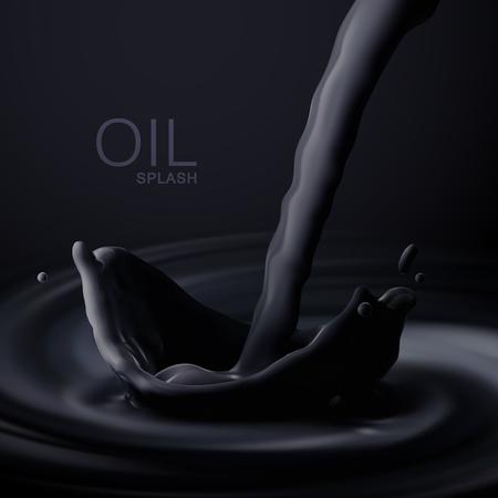 Black oil crown splash.