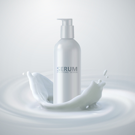 Moisturizing serum ads poster template.