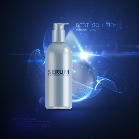 Anti wrinkles serum ads poster template.