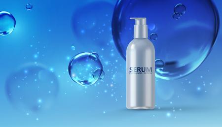 Moisturizing serum ads poster template Illustration