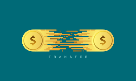 Money transfer. 向量圖像