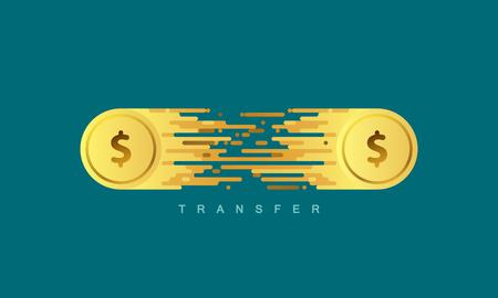 Money transfer. Illustration