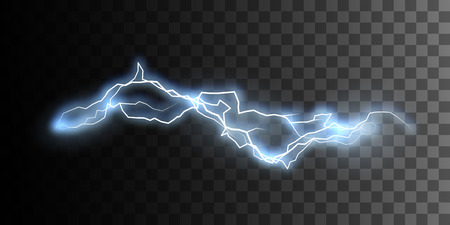 Thunderbolt or lightning visual effect for design