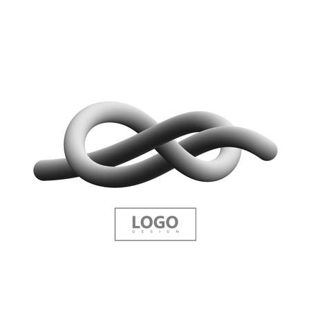 Logo de forme dégradée. Logo