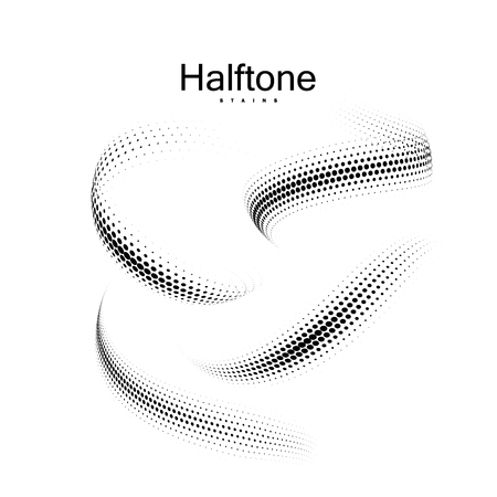 Halfton 3d shapes collection.