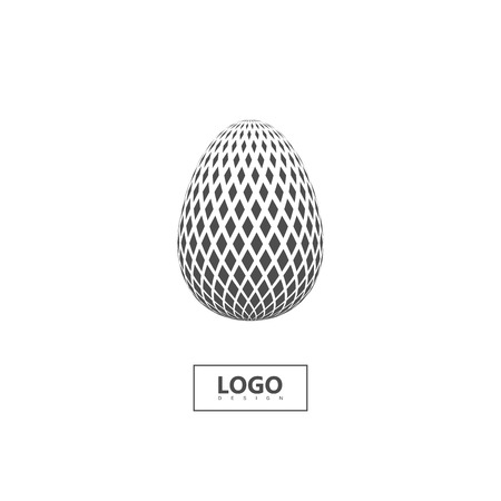 Halftone 3d spherical shape isolated on white background