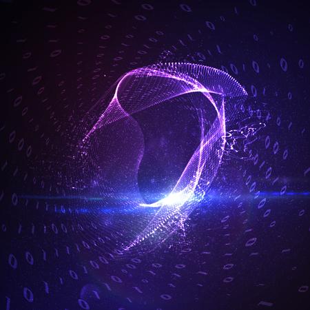 Abstract virtual digital tunnel.
