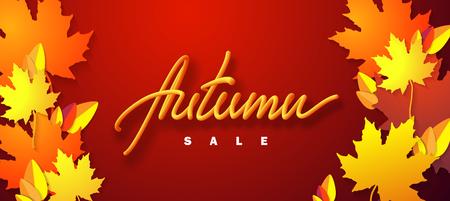 Autumn sale. Vector Illustration