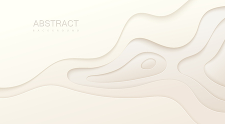 White paper topography relief. Illustration