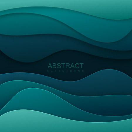 Realistic paper cut background. Ilustração