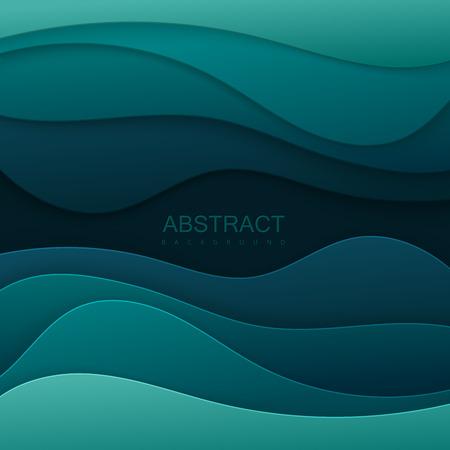 Realistic paper cut background. Illustration