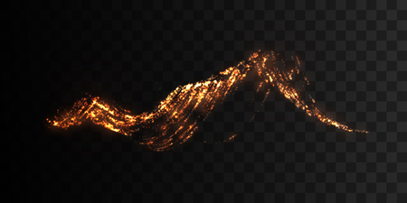 impulse: Shiny vulcanic particles glowing lines.
