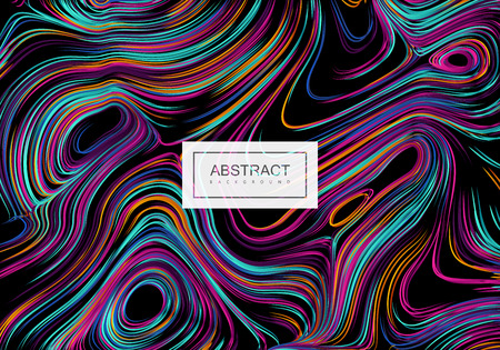 Abstract artistic multicolored background with swirled gradient lines.